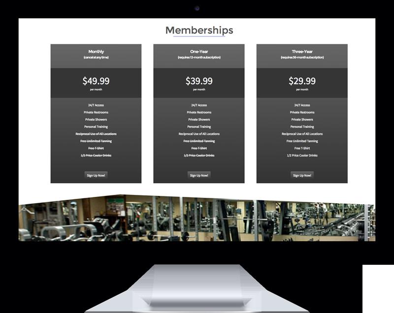 Fitness Club WordPress template mockup photo